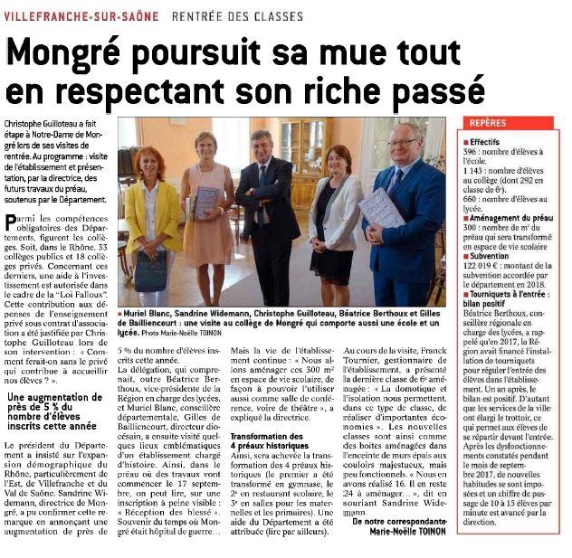 Rentree 2018 Mongré